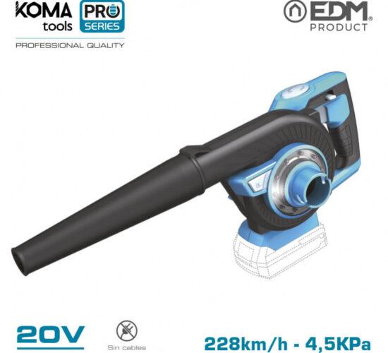 Aspirador soplador 20v (sin bateria y cargador) koma tools pro series battery edm