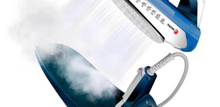 Plancha inalámbrica 2 en 1 con base 2600 w azul. Fagor